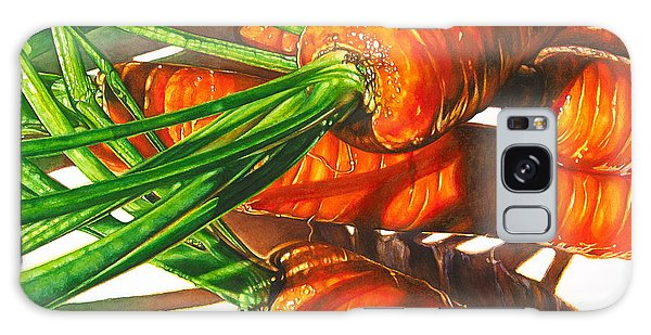 Carrot Top Shadows Galaxy Case by Tracy Male