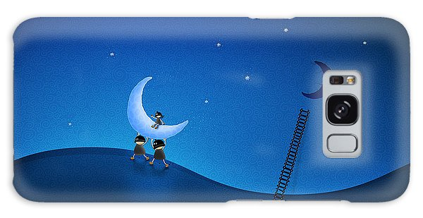 Moon Galaxy Case - Carry The Moon by Gianfranco Weiss