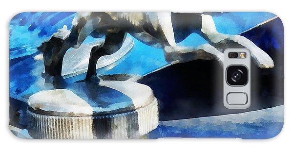 Cars - Lincoln Greyhound Hood Ornament Galaxy Case by Susan Savad