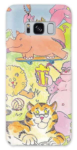 Cartoon Animals Galaxy Case