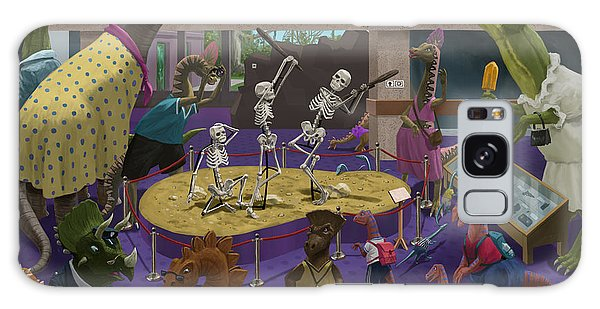 Cartoon Dinosaur Museum Galaxy Case