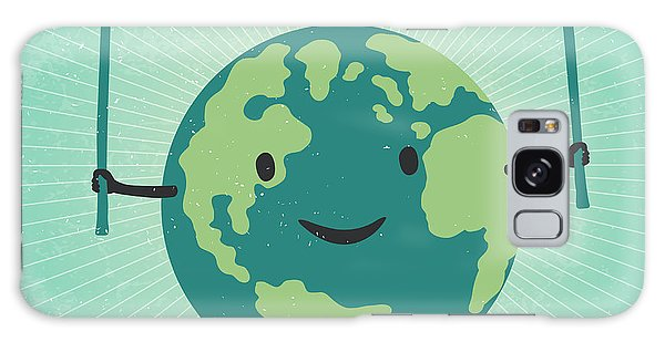 Recycle Galaxy Case - Cartoon Earth Illustration. Planet by Pashabo