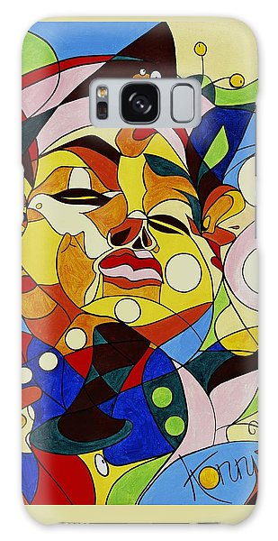 Cartoon Painting With Hidden Pictures Galaxy Case