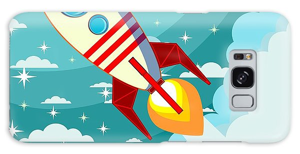 Fairy Galaxy Case - Cartoon Rocket Taking Off Against The by Alekseiveprev