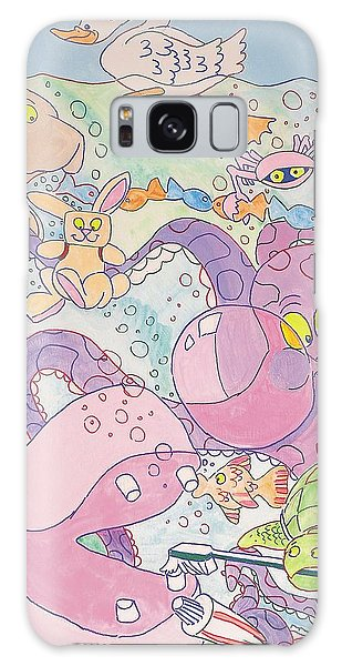 Cartoon Sea Creatures Galaxy Case