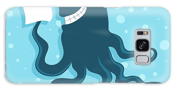 Made Galaxy Case - Cartoon Smiling Octopus With Paper In by Marinka Alisen