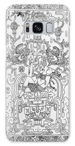 Folklore Galaxy Case - Carving At Palenque, Mexico,  Which by Mary Evans Picture Library