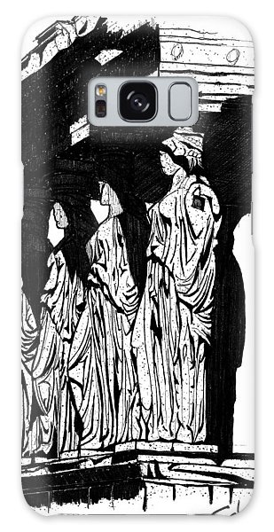 Caryatids In High Contrast Galaxy Case by Calvin Durham
