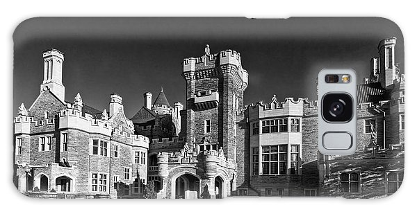 Casa Loma In Toronto In Black And White Galaxy Case
