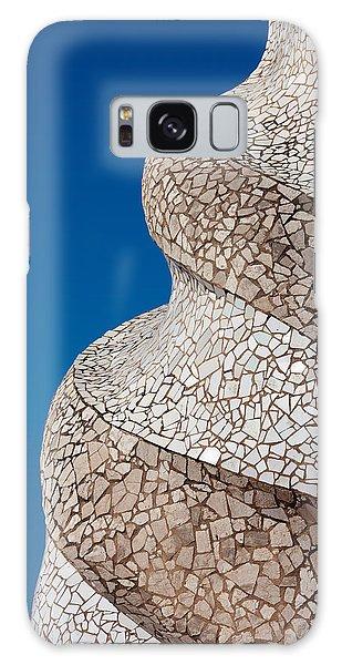 Casa Mila Abstract Chimney Detail In Barcelona Galaxy Case