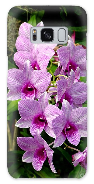 Cascading Lilac Orchids Galaxy Case