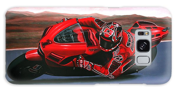 Sportsman Galaxy Case - Casey Stoner On Ducati by Paul Meijering