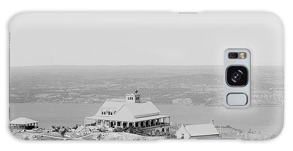 Casino At The Top Of Mt Beacon In Black And White Galaxy Case