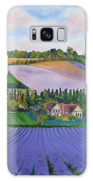 Castle Farm Shoreham Kent Lavender Fields England Galaxy Case