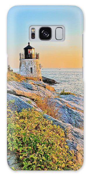 Castle Hill Lighthouse 1 Newport Galaxy Case by Marianne Campolongo