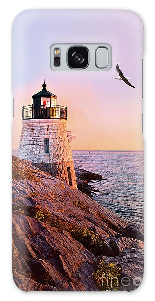 Castle Hill Lighthouse 2 Newport Galaxy Case by Marianne Campolongo