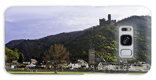 Castle On Hill Above Town Galaxy Case