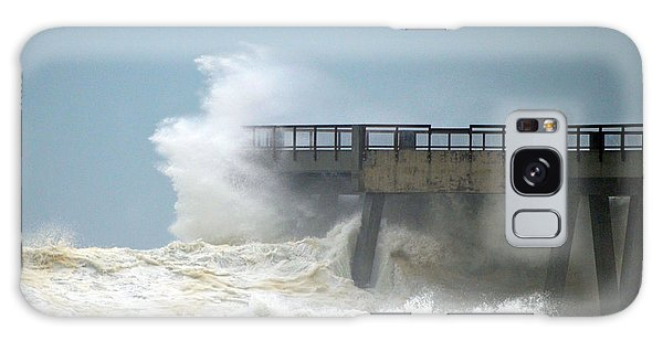 0828 Cat 1 Hurricane Isaac Crashes Into Navarre Beach Pier Galaxy Case