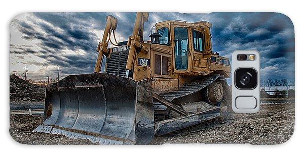 Excavator Galaxy Case - Cat Bulldozer by Mike Burgquist