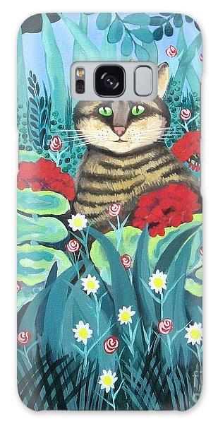 Cat Hiding In The Rainforest Galaxy Case
