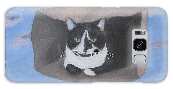 Cat In A Bag Galaxy Case