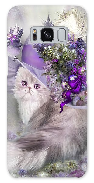 Cat In Easter Lilac Hat Galaxy Case
