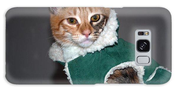 Cat In Patrick's Coat Galaxy Case