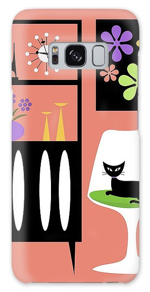 Cat In Pink Room Galaxy Case