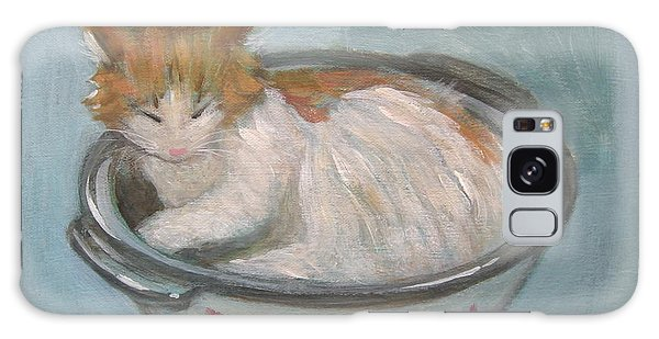 Cat In Casserole  Galaxy Case