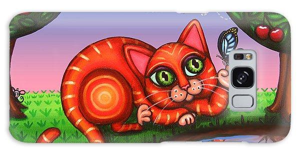 Calico Cat Galaxy Case - Cat In Reflection by Victoria De Almeida