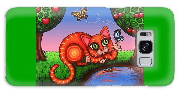 Cat In Reflection Galaxy Case