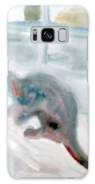 Cat In The Garage On A Mat Galaxy Case