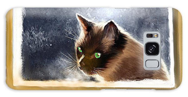 Cat In The Window Galaxy Case