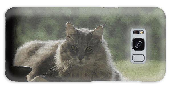 Cat N Saddle Galaxy Case