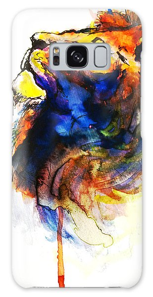Cat Of A Different Color Galaxy Case by Howard Barry