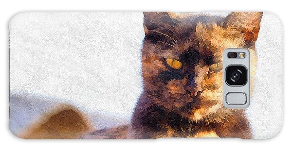 Cat Portrait Paint Galaxy Case