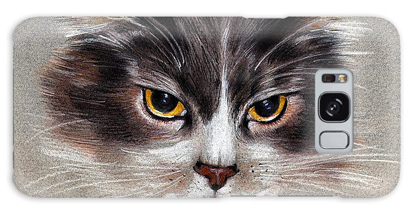 Cat Portrait Yellow Eyes Galaxy Case
