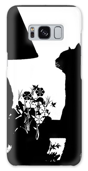 Cat Silhouette Galaxy Case