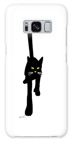 Cat Stepping Forward Galaxy Case by The Art of Marsha Charlebois