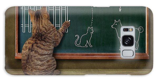 School Galaxy Case - Cat Teacher And His Pupils... :) by Iryna Kuznetsova (iridi)