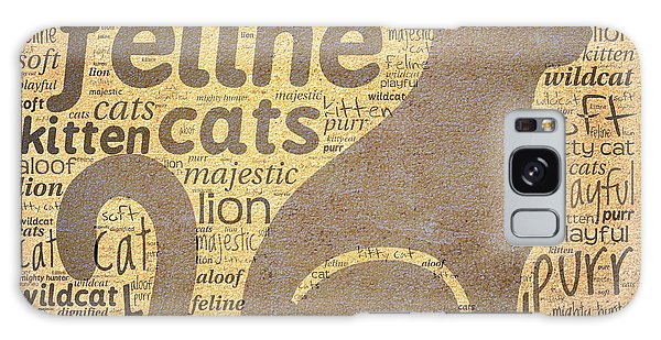 Cat Typography Galaxy Case