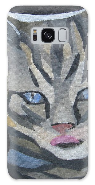Cat With Tongue  Galaxy Case