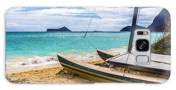 Catamaran On Waimanalo Beach Galaxy Case