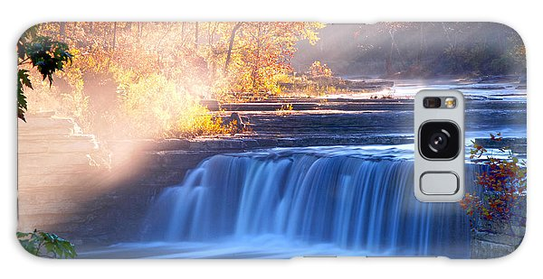 Cataract Falls Indiana Galaxy Case by Randall Branham