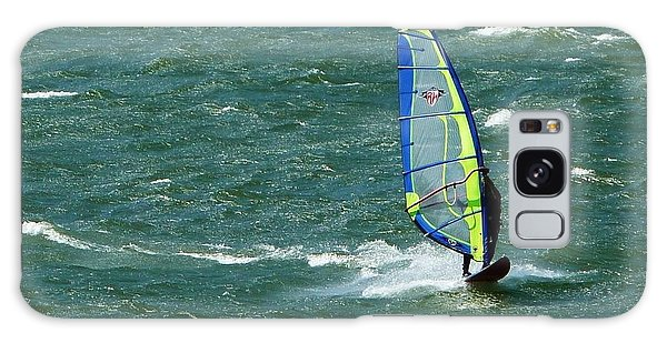 Catching Wind And Surf Galaxy Case by Susan Garren