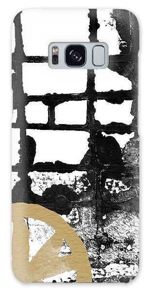Black And White Art Galaxy Case - Cathedral- Abstract Painting by Linda Woods