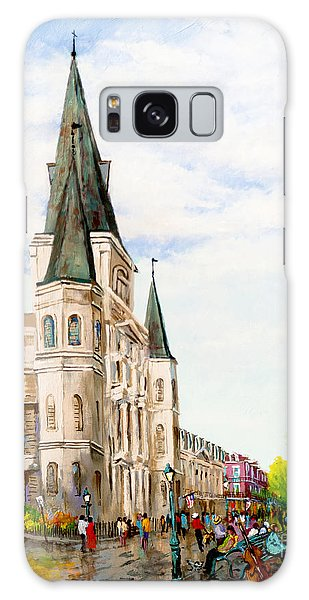 Cathedral Plaza - Jackson Square, French Quarter Galaxy Case