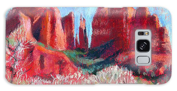 Cathedral Rock On Red Paper Galaxy Case