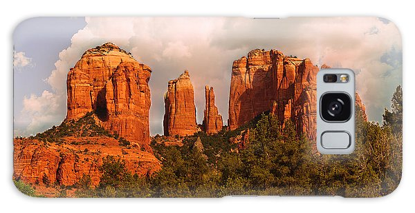 Cathedral Rock Sunset Galaxy Case