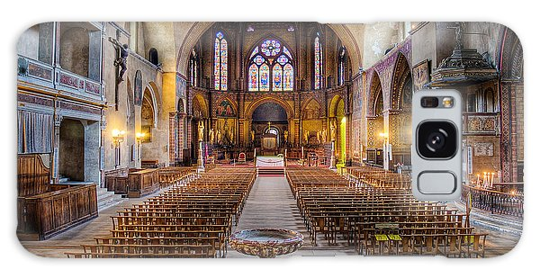 Galaxy Case featuring the photograph Cathedrale Saint-etienne Interior / Cahors by Barry O Carroll